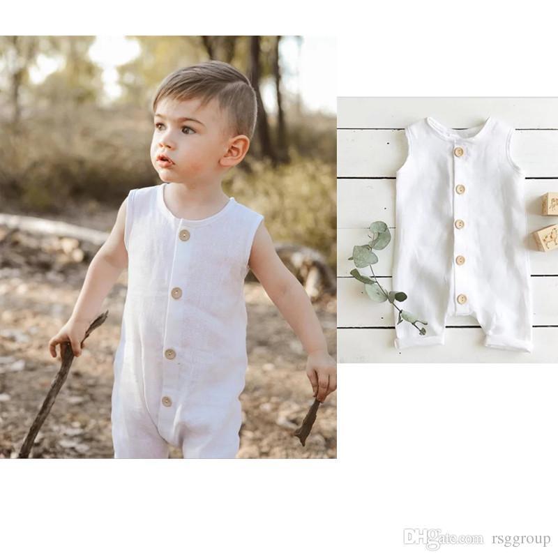 Toddler Baby Boys Sleeveless Cotton Pineapple Romper Kids Bodysuit Jumpsuit Set