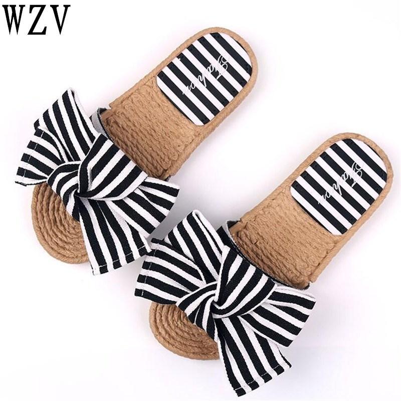 Primavera 2018 Verano Sandalias Y Con Nudo Arco Zapatos De Mujer Chaquetas Lazo Famosas Zapatillas Grandes Playa UVzMpSGq