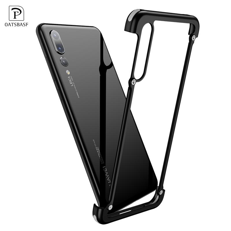 info for d3191 2bbae OATSBASF Airbag Metal Case For huawei p20 lite case luxury Personality  Shell for Huawei P20 Pro case Slim Metal Bumper cover