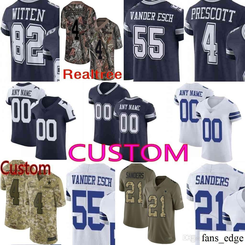 df8551cce90 2018 Custom Men Youth Women Dallas Ezekiel Elliott Dak Prescott Sean Lee  Jason Witten Emmitt Smith Cowboys Camo 19 Amari Cooper Elite Jersey From  Fans_edge, ...