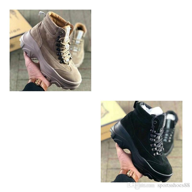 c02b9eeee23 Compre 2019 NUEVA VENTA Invierno Y Otoño Nuevas Botas Martin Para Mujer  Versión Coreana Baitaan Plus Zapatos De Gamuza Fondo Grueso Baitaan Zapatos  De Ocio ...