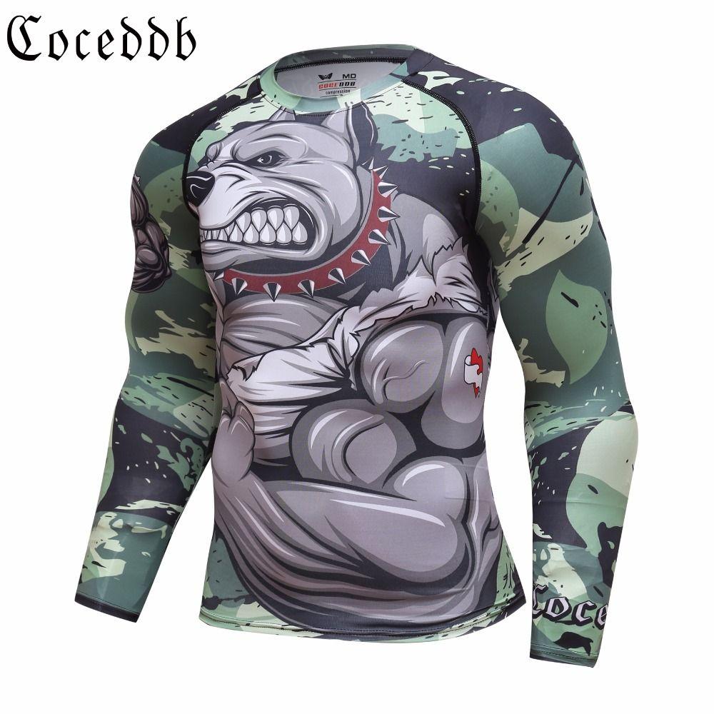 d446c0df45e5 2018 Mens Fitness Compression O Neck Long Sleeves T Shirt Animal 3D Prints  MMA Rashguard Tights Skin Man COCEDDB T Shirts Buy Cool Shirts Online Funny  T ...