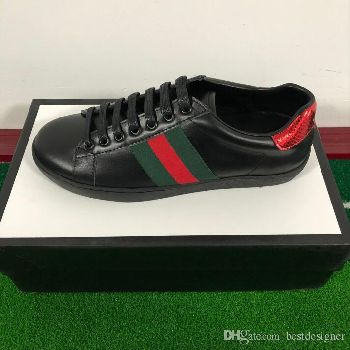 1acc660b Compre Zapatos De Diseñador Verdes ACE Blanco De Calidad Superior Nuevos  Hombres Bordados Mujeres De Cuero Genuino Zapatillas De Deporte De Marca De  Lujo ...