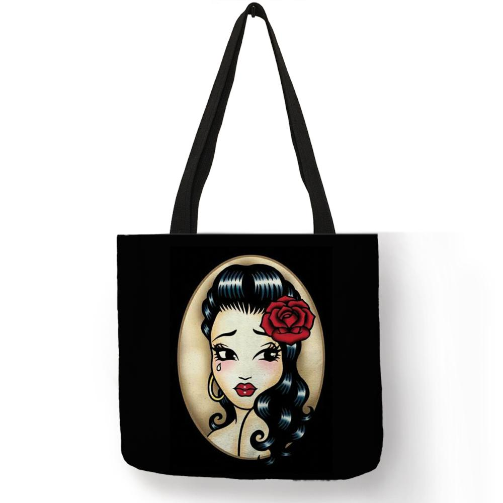 8e92c95ddc Acquista Designer Day Of The Dead Skull Girl Tote Bag Le Donne Borse Moda  Fodling Shopping Bag Riutilizzabile Con Caratteri Double Side Stampati A  $18.28 ...