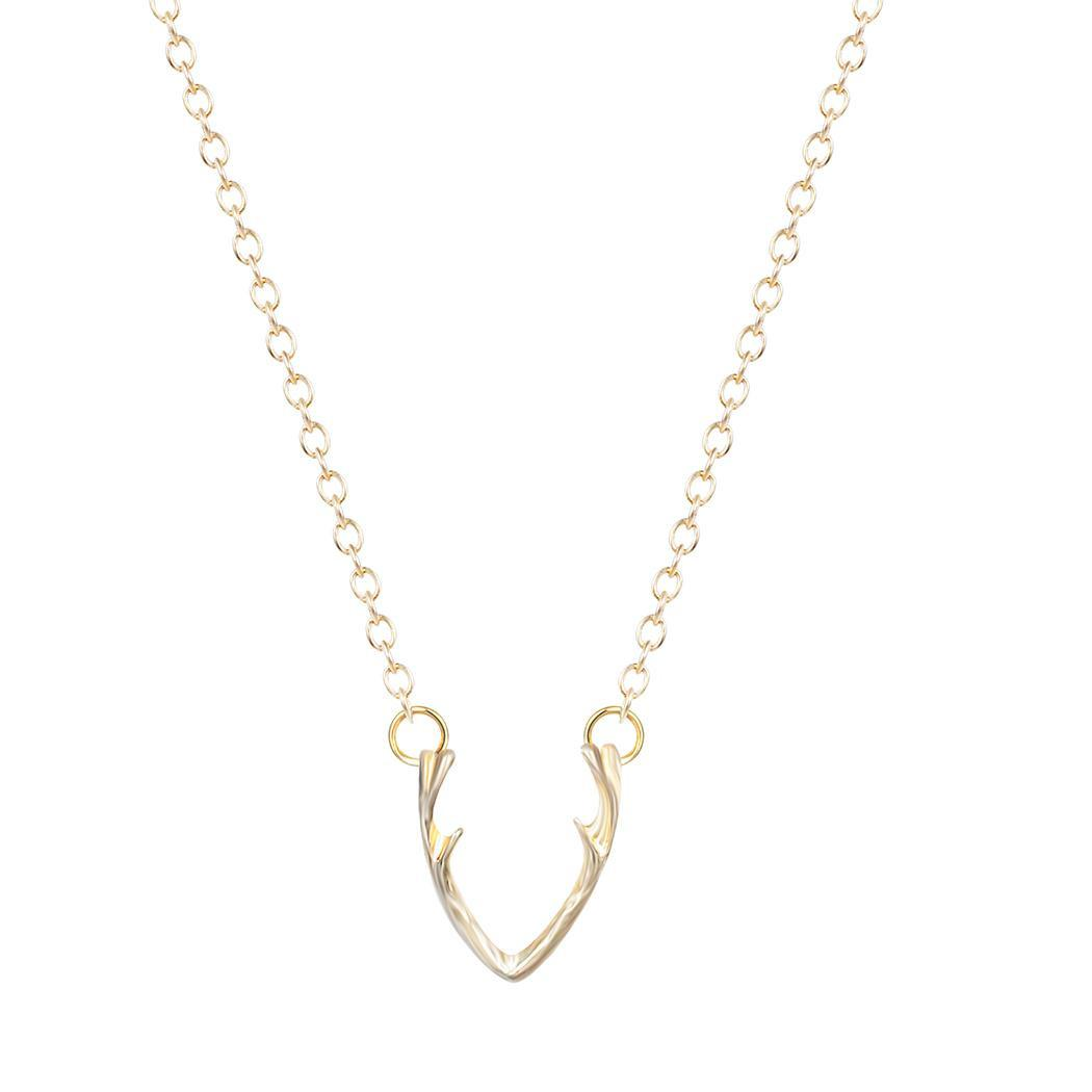 d9554000b02c Horn Necklace Antler Necklace Minimalist Jewelry For Women Horn Necklace Cc  ZA Collier Colar K2697 Online with  0.84 Piece on Telnet s Store
