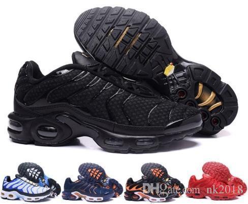 cheap for discount 8237a dfd53 Großhandel Nike Air Max 2019 Neues Design Top Qualität TN Herrenschuhe  Atmungsaktives Mesh Chaussures Homme Tn REqUin Noir Casual Laufschuhe Größe  7 12 Von ...