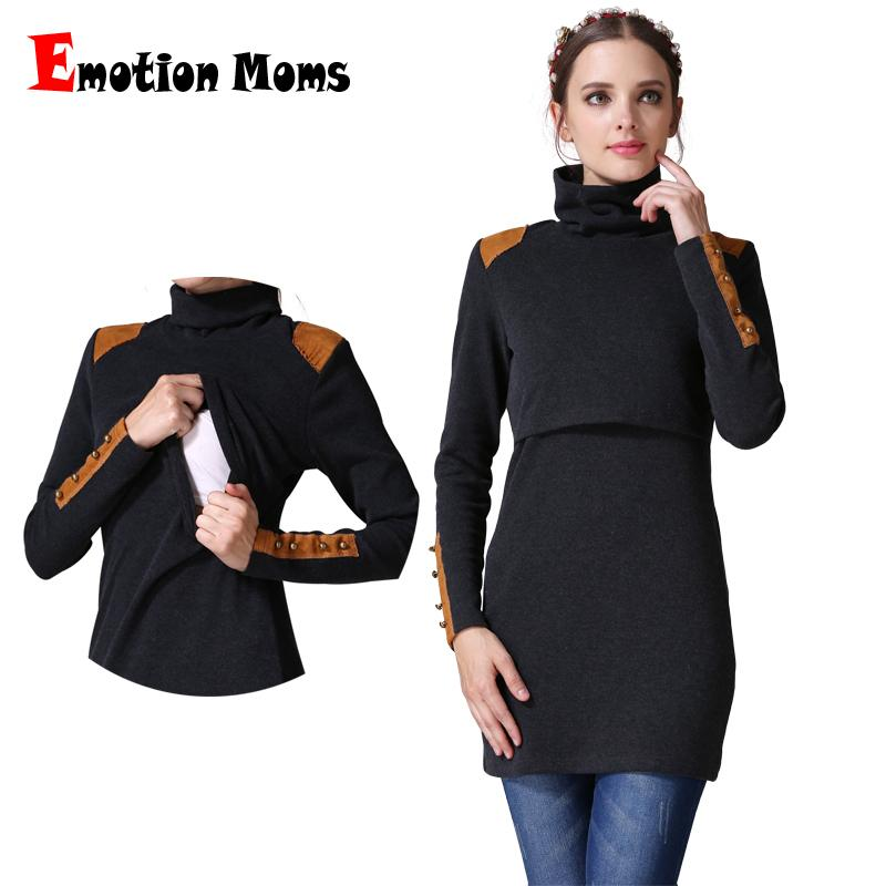 82a542d16059b Emotion Moms Turtleneck Maternity Clothes Nursing Breastfeeding ...