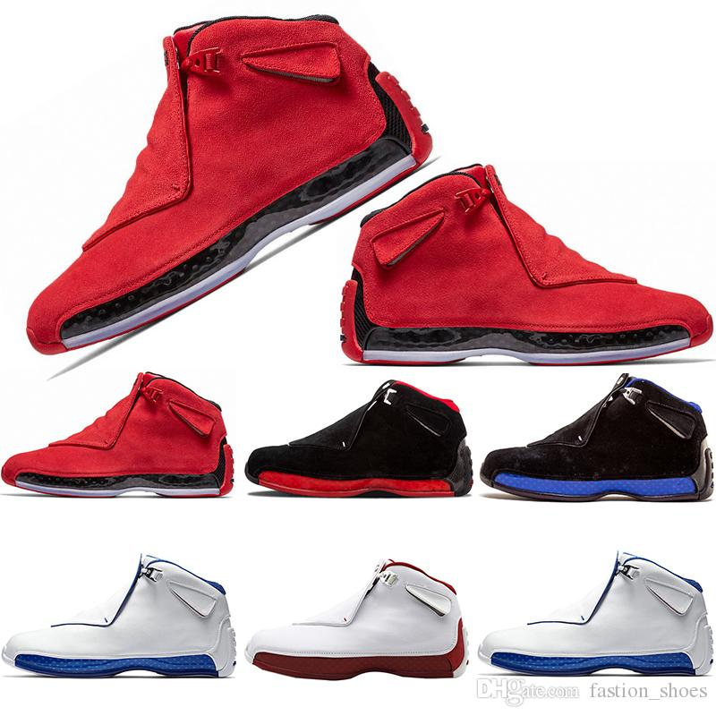 a372188bc1dc 2019 2019 Hot 18s Basketball Shoes For Men XVIII Toro Red Suede Blue Orange  Yellow White Black OG Black Royal ASG Athletic Sneakers Shoes From  Fastion shoes ...