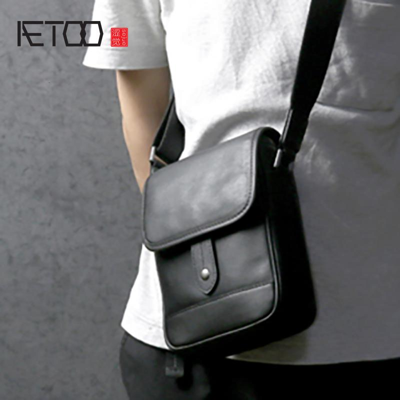 AETOO Men s Singles Shoulder Bag Male Leather Oblique Carry Baotou Layer  Cowhide Business Bag Calfskin Casual Crossbody Bags Cheap Crossbody Bags  AETOO ... 8ee1948d3f