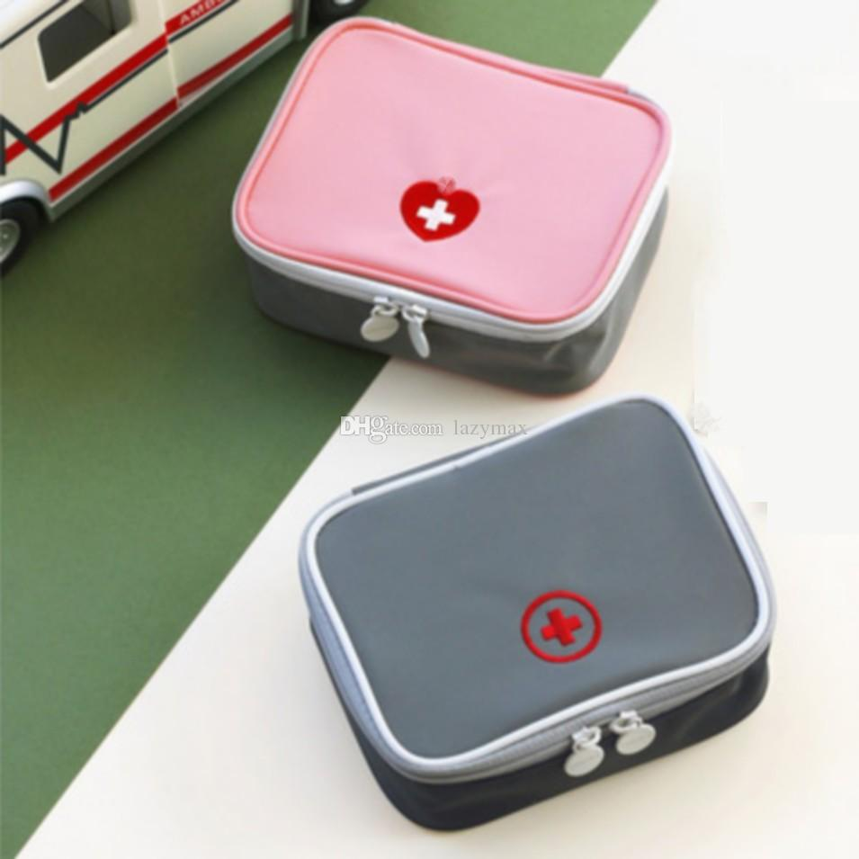 First Aid Emergency Kit Portable Family Medicine Storage Bag Outdoor  Camping Pill Storage Case Home Office Survival Box 2 Pieces eParcel