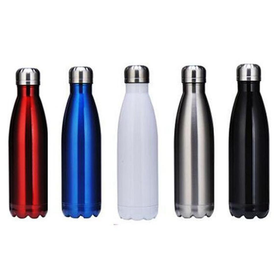 17oz /500ml Cola Shaped water bottle Double wall Stainless steel tumbler Vacuum Insulated Travel Sport Thermos Coke Cup Mug LJJA3413-4