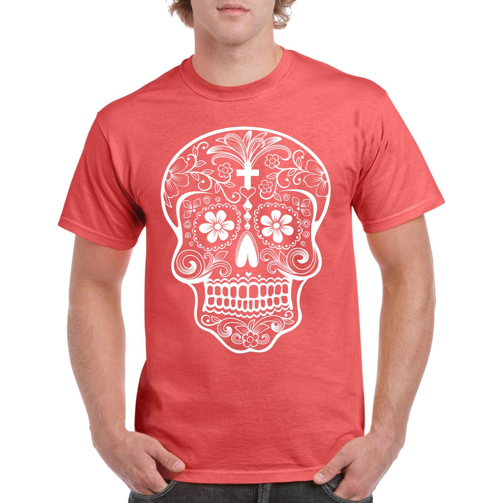 473717f1 Shirt Sugar Skull T Women Day Of Dead Tshirt Muertos Roses Dia De Los Pink  Tee S Funny Unisex Casual Tshirt Cool T Shirts Buy Online Raid Shirt From  ...