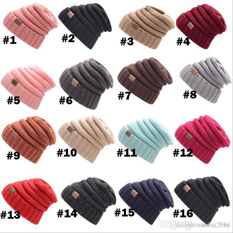 9b4c7ae2684 2019 CC Caps CC Hats Knitted Beanie Fashion Girls Women Winter Warm Hat  High Bun Beanie Hat Casual Beanies From Cards 2016