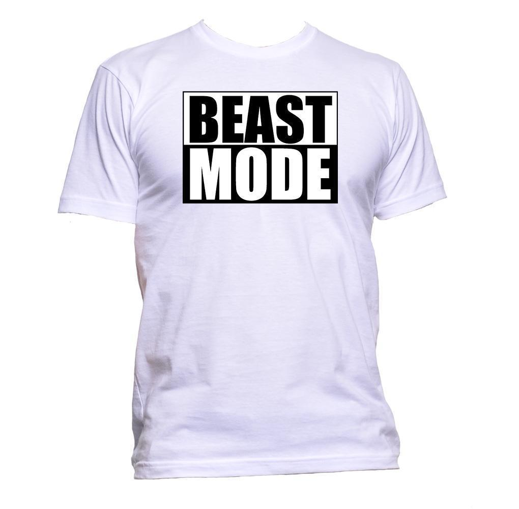 d91859e9ab3533 Großhandel Beast Mode Slogan Gym Fitness Slogan T Shirt Herren Damen Unisex  Fashion Comedy Größe Discout Heiße Neue T Shirt Lustige 100% Baumwolle T  Shirt ...