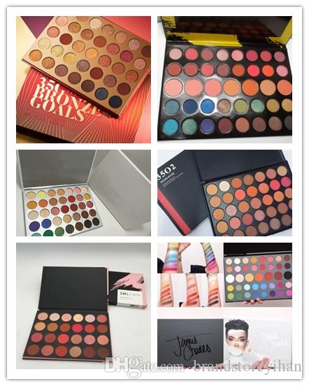IN Stock!! Hot 35 Color Eye Shadow Palette 35color Eyeshadow Palette Silver J-H Palette Makeup High Quality DHL or EPACKET to Brazil