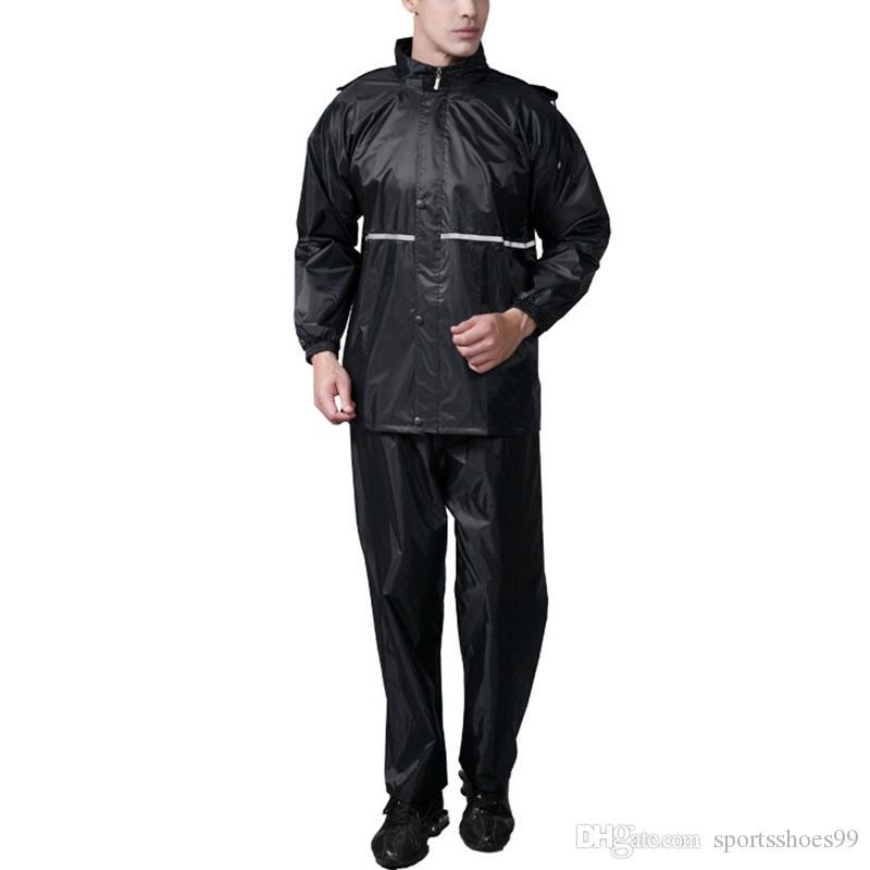 Compre Chubasquero Impermeable Para Mujer Impermeable Impermeable Con  Capucha Chaqueta Para Lluvia Mujeres   Hombres Conjunto De Pantalón De  Chaqueta Grueso ... b5fa2a360ce