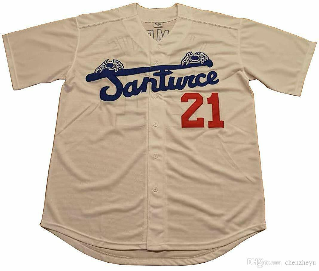 online store ffe70 90d88 Roberto Clemente #21 Santurce Crabbers Puerto Rico Baseball Jersey Men White