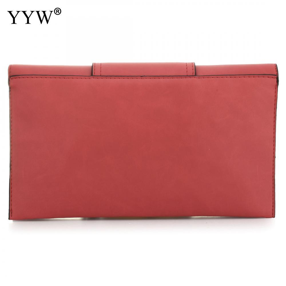 Brand Fashion Female Clutch Bag Burgundy PU Leather Women Handbags Light Pink Bag Gray Crossbody Bags Casual Women Small Bag