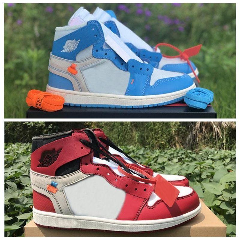 newest 14df4 7a4b3 Großhandel 2019 Jumpman 1 OG Basketball Schuhe Herren Chicago Rot 1S  Sneakers Damen Designer Schuhe UNC Powder Blue Weiß Sportschuhe Von  Goesyes, ...