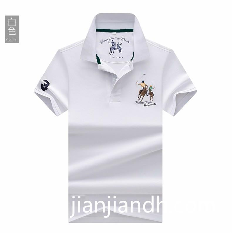 19 summer fashion new men's polo shirt bottoming shirt Korean lapel men's short-sleeved T-shirt high-end handsome male 720