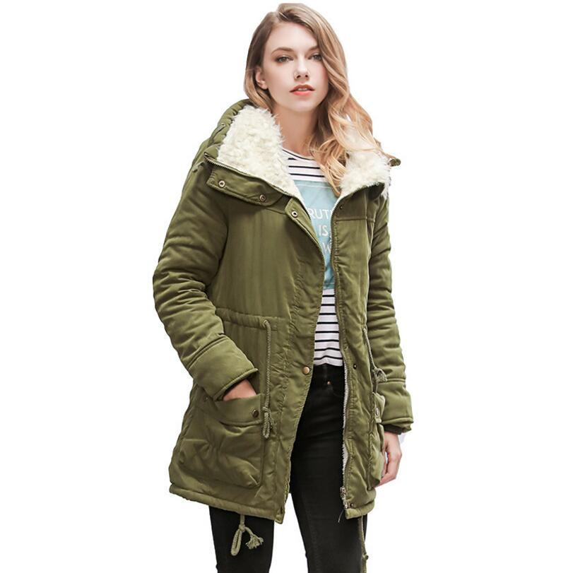e29ef7e7b551d 2019 2018 Autumn Winter Women Casual Add Velvet Thick Warm Cotton Padded  Clothes   Women S Large Lapel Thick Down Jacket Coat From Akaya