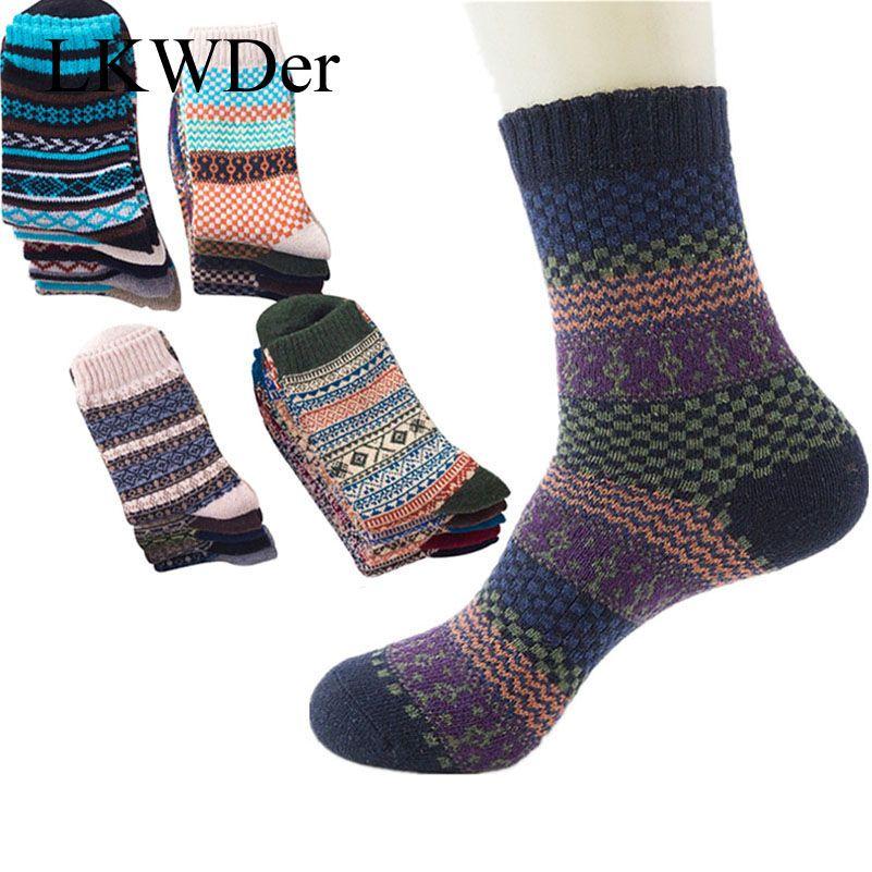 91e52ad67d7ef 2019 Men Socks Vintage Striped Totem Teenager Wool Blend Warm Winter Socks  Mens Suit Business Socks Christmas Gift Calcetines From Wangleme011, ...