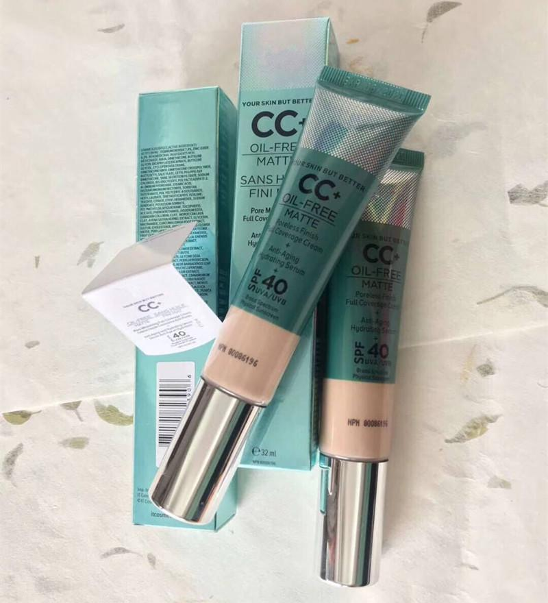 Dropshipping free Cosmetici CC + Cream Matte-Free Matte 32ml Poreless Finish Full Coverage Cream Hydrating Siero correttore Makuep Di Epacket.
