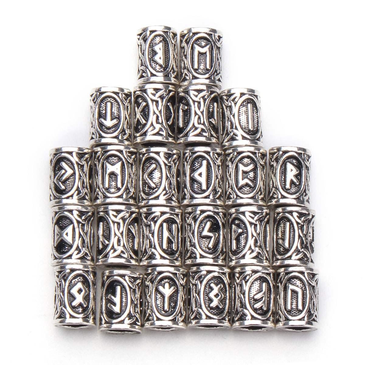 17c6912b6f89d 24pcs Braid Dread Dreadlock Beads Clips Cuff Rune Pattern Design Ring Tubes  For Braiding Hair Extension Accessories