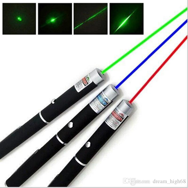 5mW 532nm Green Red Blue Violet light Beam Laser Pointers Pen For SOS Mounting Night Hunting Teaching Meeting PPT Xmas Gift