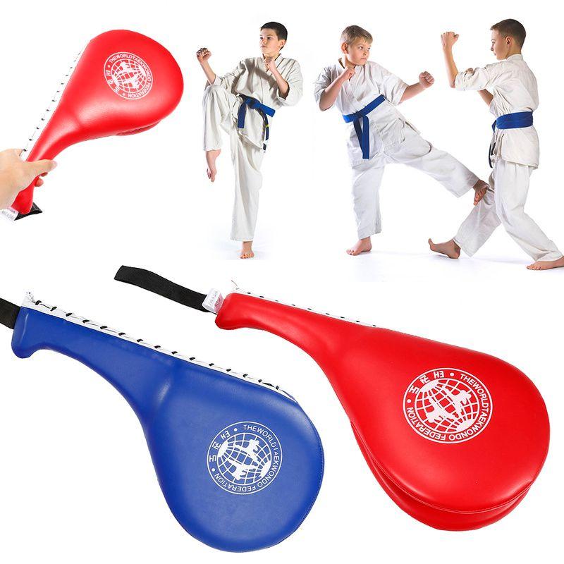 Double Kick boxing bag Training Pad Target Taekwondo Karate MMA Kickboxing  Kick Target Pad Swordplay Training Gear