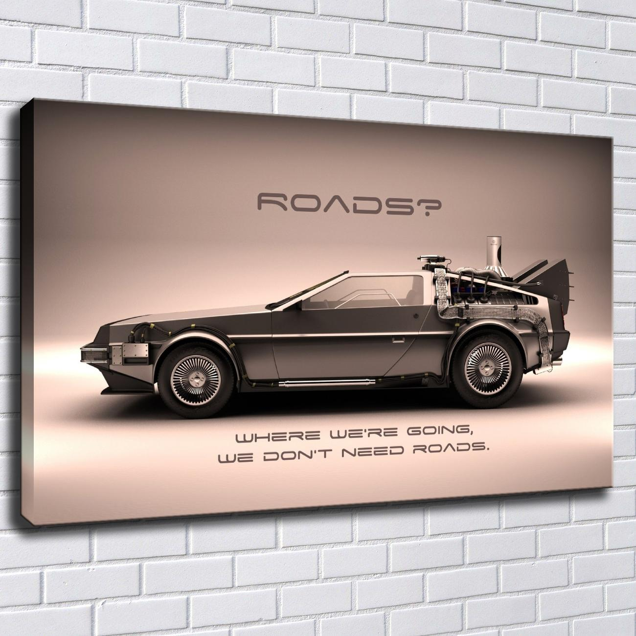Satın Al Geri Gelecek Için Araba Klasik Tuval Boyama Baskı Resimleri