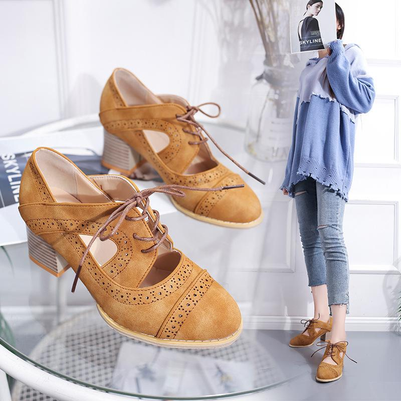 fb3bf0818df Sexy2019 A Amazon Wish Independent Station Pattern Laser Ventilation Woman  Coarse With Sandals Bridal Shoes Cheap Shoes From Dresshoes