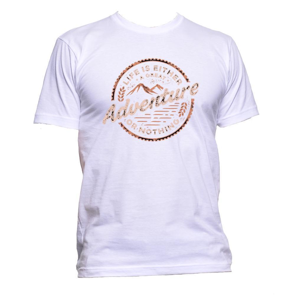 Life Is Either A Great Adventure Or Nothing Unisex T Shirt Mens