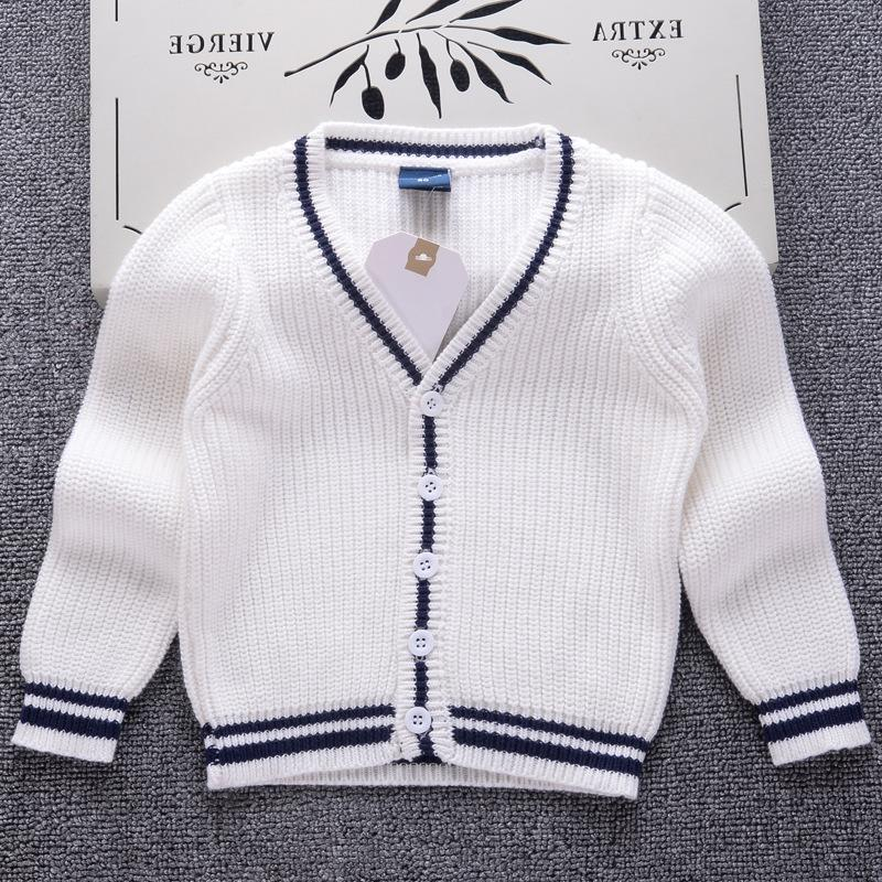 New Solid Color Formal Sweater Boys Girls Cardigans Winter Thicken