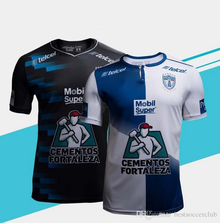 2019 2018 2019 New Pachuca Soccer Jerseys 18 19 Mexico City Home Blue White Football  Shirt 2018 Pachuca FC Away Black Soccer Shirts On Sales From ... 8bc729aec