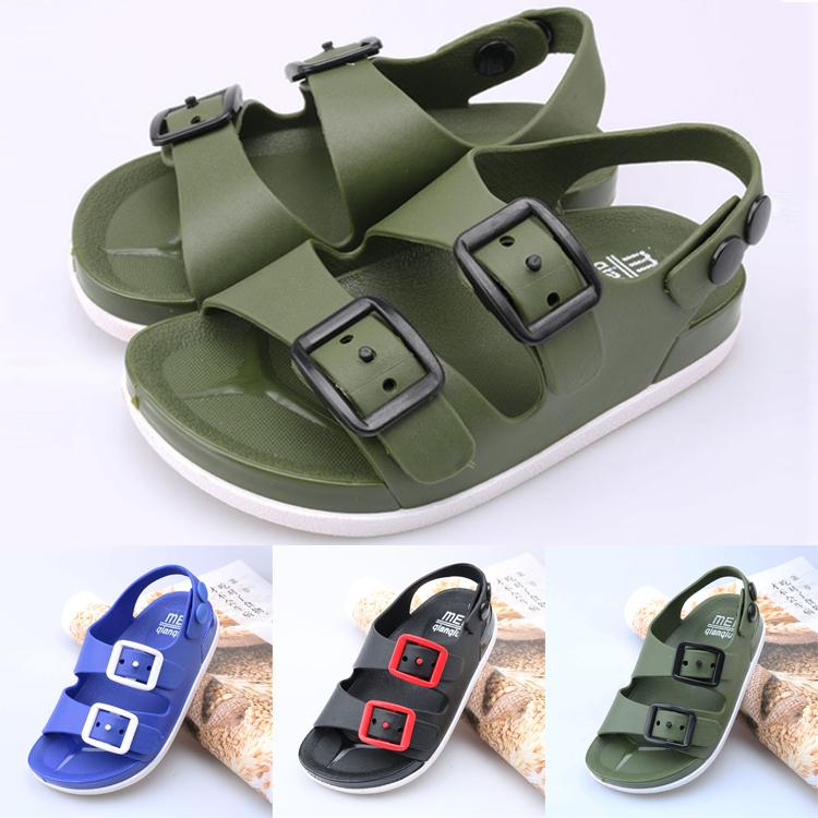 Summer kids shoes 3 colors Baby Children's Sandals kids Non-slip Open toe breathable Beach sandals kids designer shoes JY392