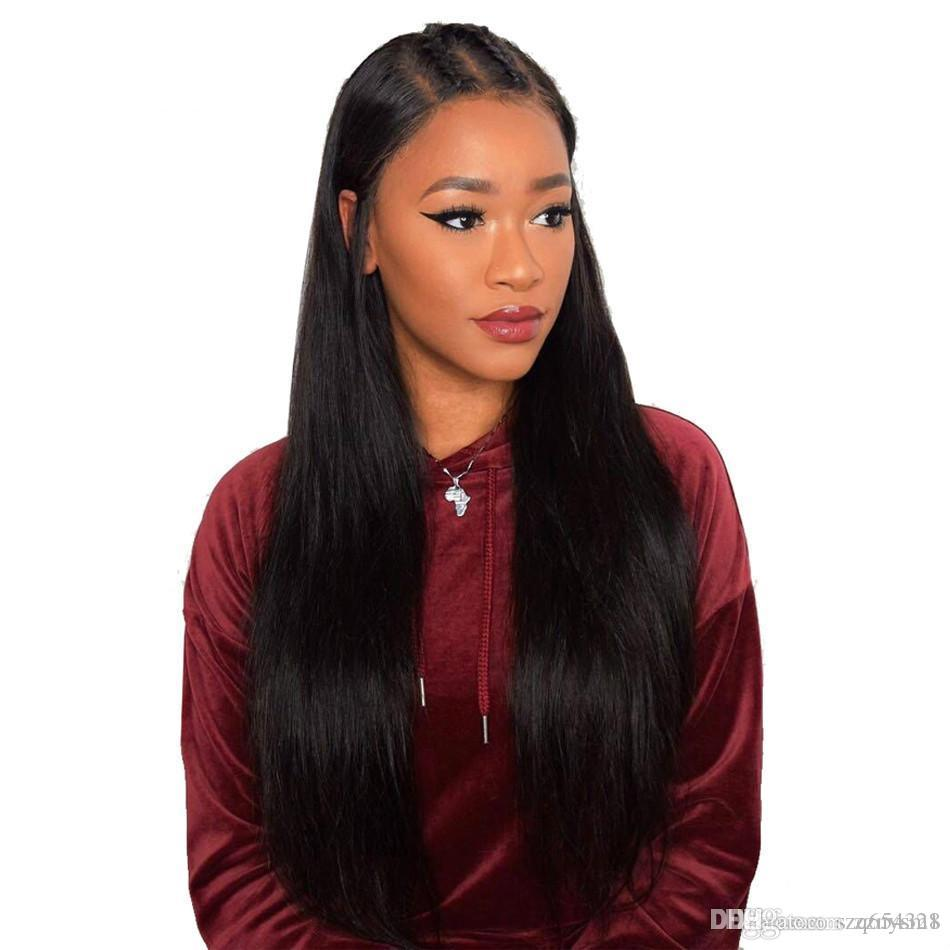 high temperature wire Wigs Straight Pre Plucked With Malaysian Straight Remy Wigs