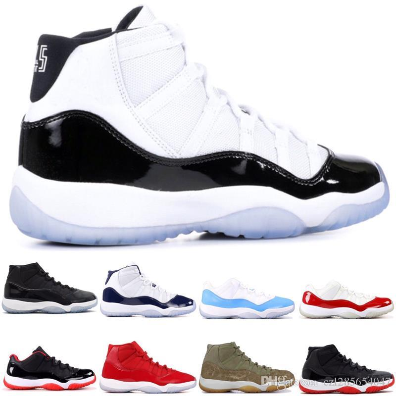 0edf7a449ac0ce 11 11s Concord 45 Platinum Tint Men Women Basketball Shoes Cap And Gown  Prom Night Gym Red Bred Barons Sports Sneakers With Box Men Sneakers  Sneakers Men ...