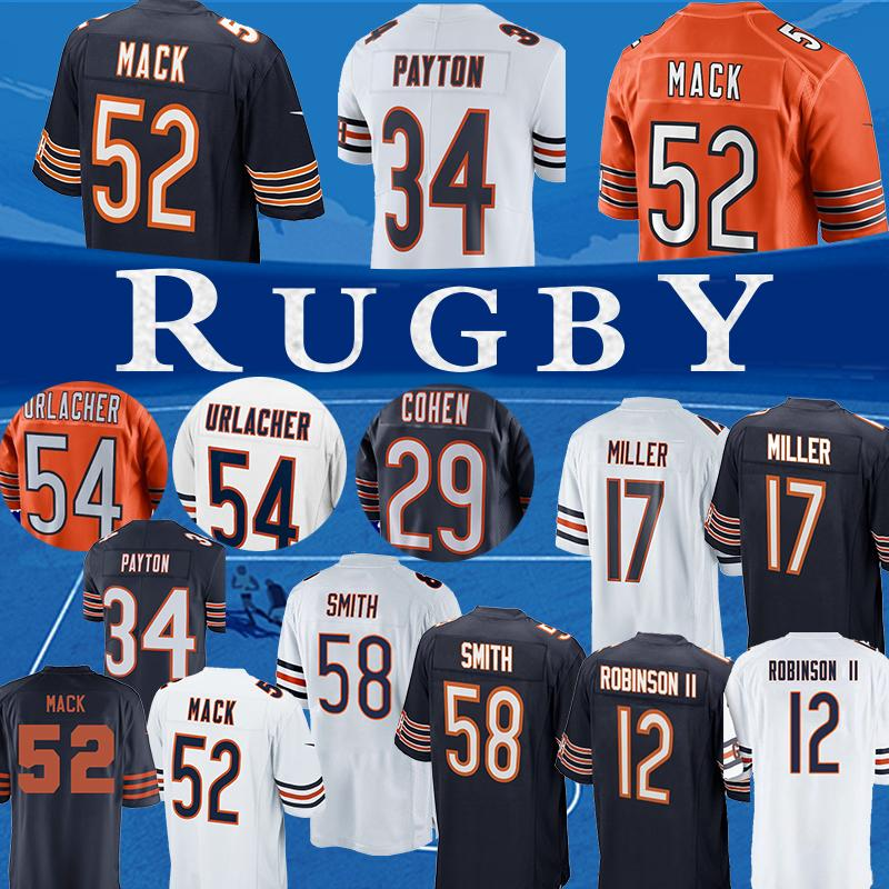 sneakers for cheap f4e37 02360 12 Allen Robinson 52 Khalil Mack Chicago Jersey bears 34 Walter Payton17  nthony Miller football jerseys shirt