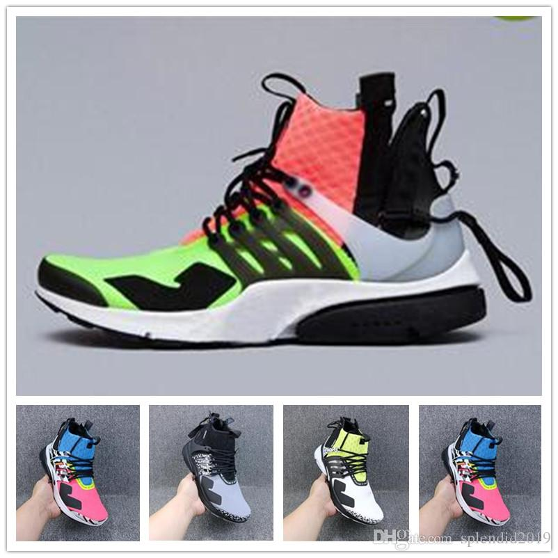 brand new 9dbfc 5f396 2019 2019 ACRONYM X Presto Mid V2 Men Running Shoes Racer Pink Cool Grey  Darts Street Designer Sneakers Camouflage Graffiti Shoes From Splendid2019,  ...