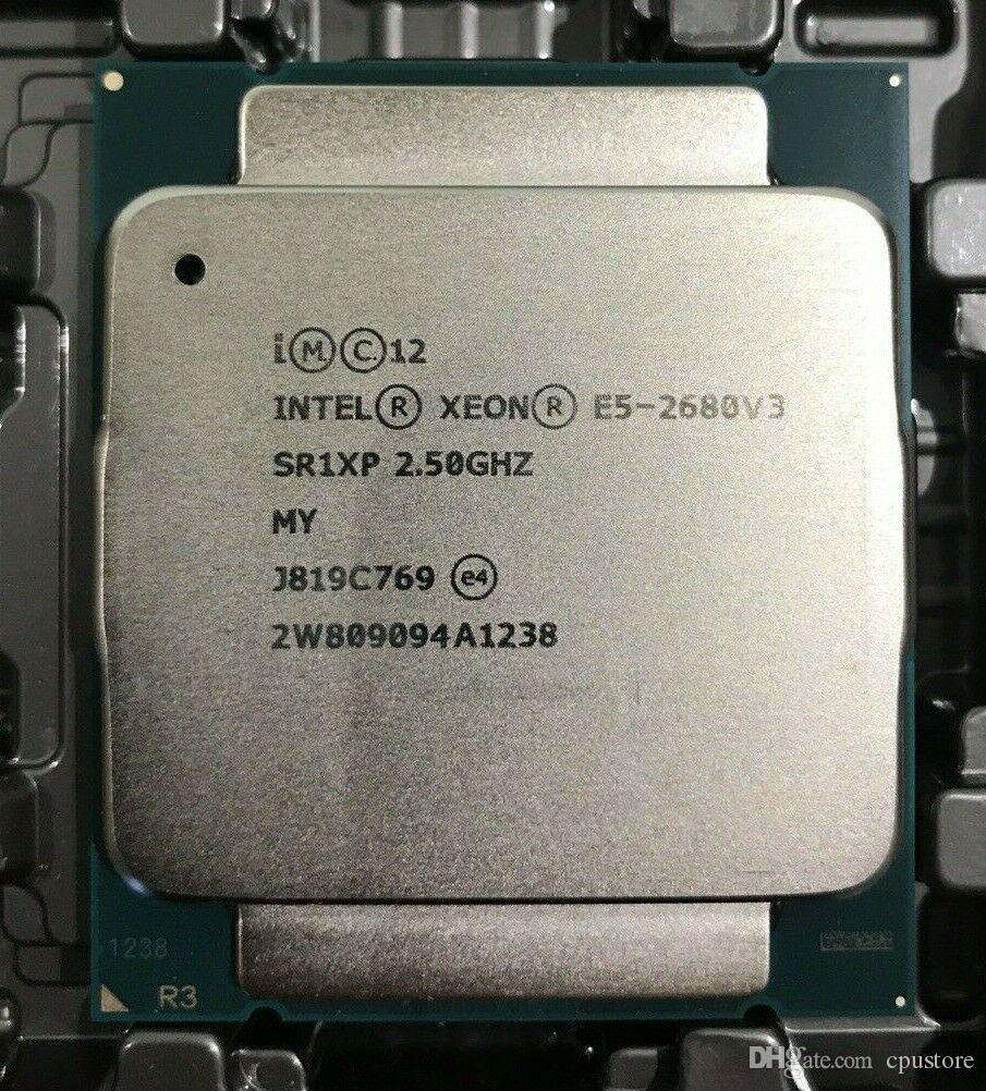 Intel E5-2680 V3 Processor SR1XP 2 5Ghz 12 Core 30MB Socket LGA 2011-3 Xeon  CPU E5 2680 V3