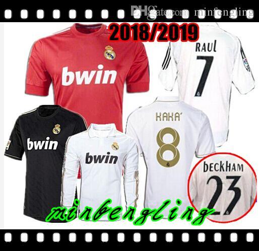 bfde9e4fa 2019 Best Retro 2011 2012 Real Madrid Home Soccer Football Jersey Sergio  Ramos KAKA HIGUAIN RONALDO ZIDANE Beckham 2005 06 RAUL Robinho Long Slee  From ...
