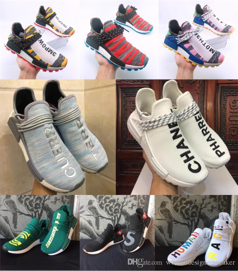 the best attitude 9afc8 c1ac4 2019 Human Race TR Men designer Shoes Pharrell Williams Human Races Pharell  Williams Mens Womens Trainers Sports Sneakers 36-47