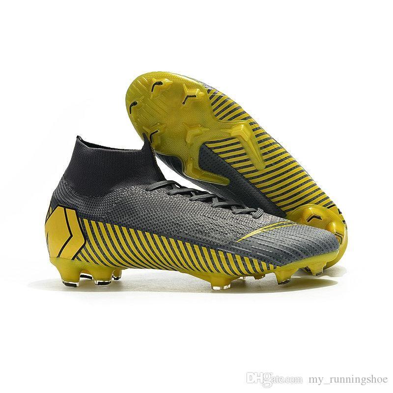 57c7bf317 Mercurial Superfly VI 360 Elite FG KJ 6 XII 12 CR7 Ronaldo Neymar  Chaussures Hombres Mujeres Zapatos De Fútbol Altos Botas De Fútbol XX Tacos  35 45 Por ...