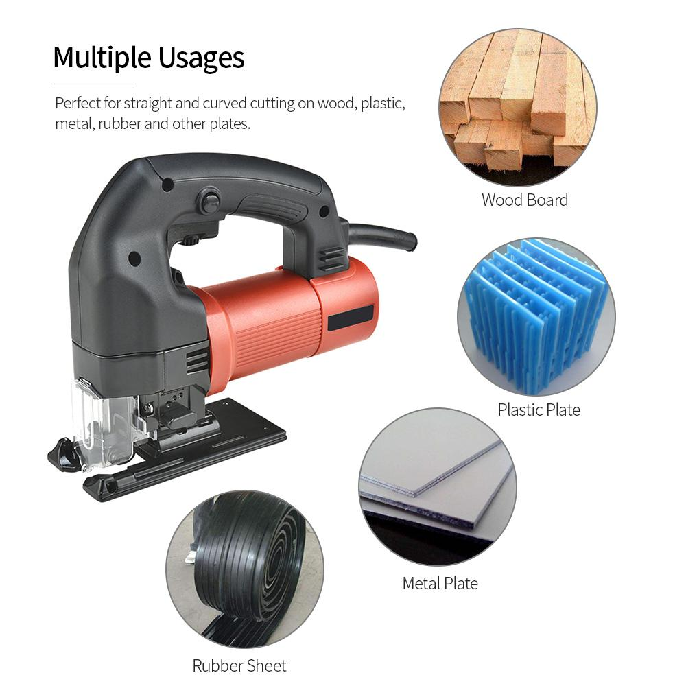 Multi-purpose Electric Handheld Curve Jig Saw Power Tools Scroll Saw Kit DIY Woodworking Cutting Thin Metal Plates 220V 670W