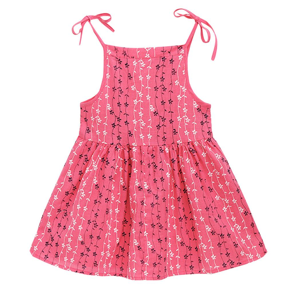 Toddler Kid Baby Girl Solid Flower Striped Princess Party Dress Sundress Clothes Children Summer brand Clothes Baby Girls