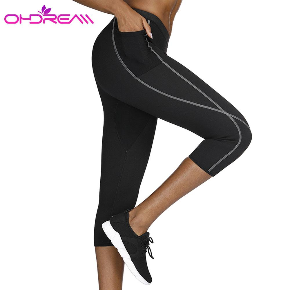 7af2f17d4b7 OHDREAM Women's Yoga Pants Running Pants Tights Tummy Control Workout  Running Stretch Yoga Leggings High Waist With Pocket -G