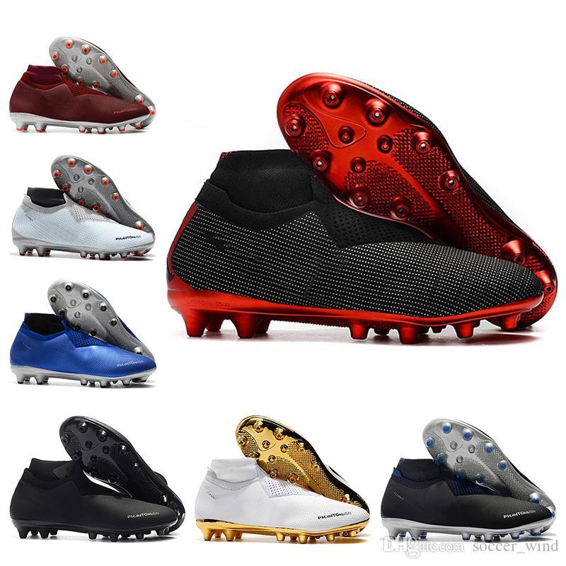 2019 Men High Ankle Football Boots GHOST Phantom VSN Elite DF AG Soccer  Shoes X PSG Phantom VSN AG Soccer Cleats Cheap Boys Sneakers Boys Sports  Trainers ... 78756dd923d5