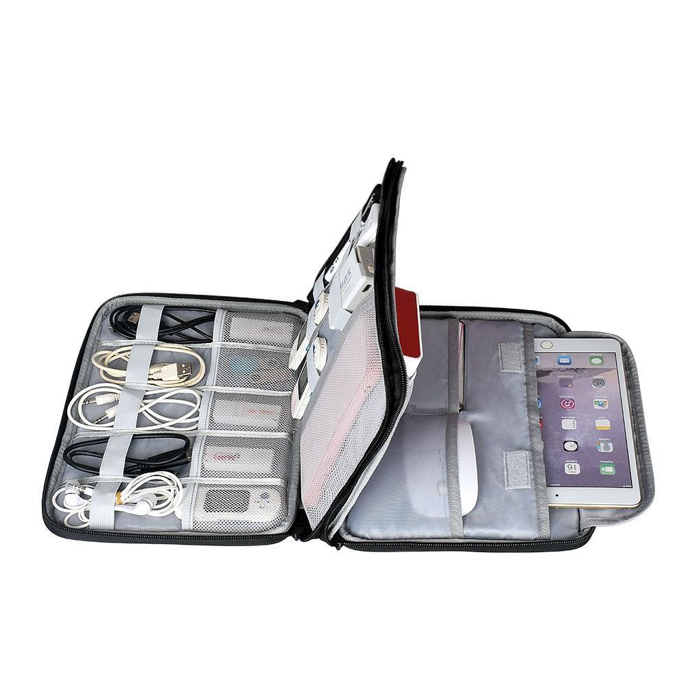 292608e7c320 Compre Accesorios De Disco Duro Bolsa De Transporte Bolsa De Gadget Maleta Para  Cable De Viaje Organizador De Electrónica Para Cargadores Cables Disco Duro  ...