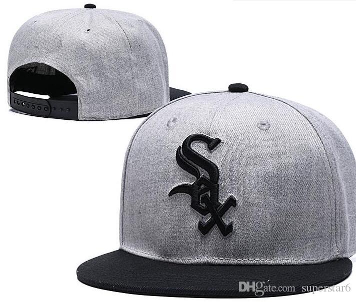 super promotions remise chaude le plus populaire 2019 best quality Snapback White Sox Hat Chicago Cap Adjustable Baseball  Hats Snapbacks Strapback Golf Casquette Sport cap men women bone 00
